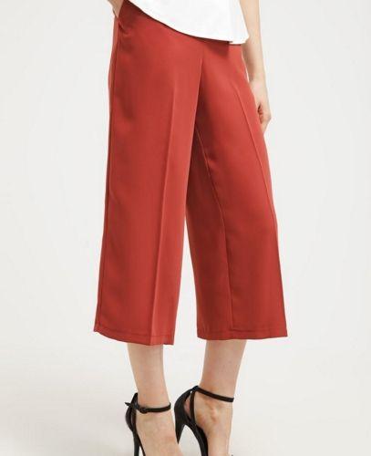 Wallis Culottes Spodnie materiałowe rude kuloty rust