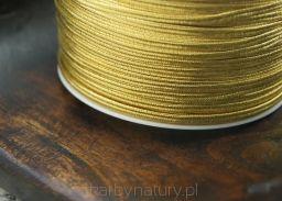 Sznurek Sutasz PEGA - złoto metalizowane [1 metr] - Skarby Natury - rozwiń swoją pasję