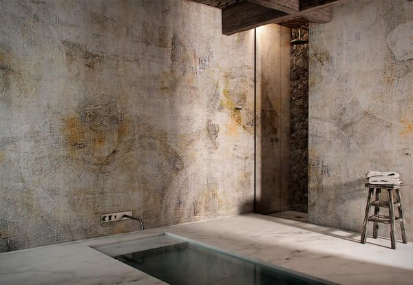Perfect wall in a bathroom