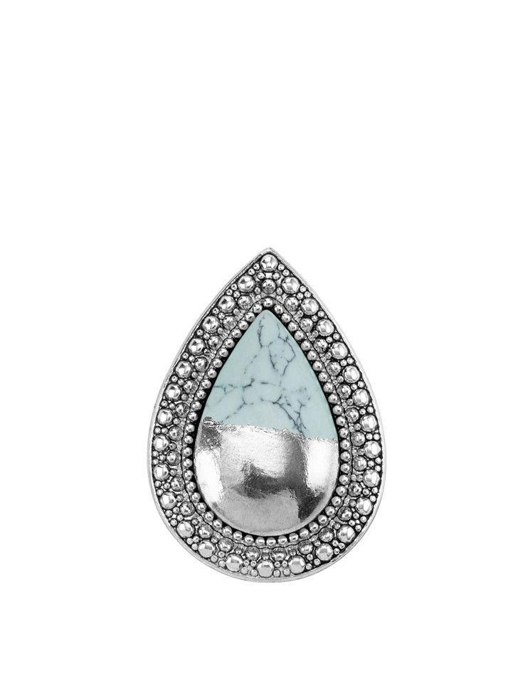 Samantha Wills - Bohemian Bardot Ring - Silver Dipped Blizzard Blue - $129.00