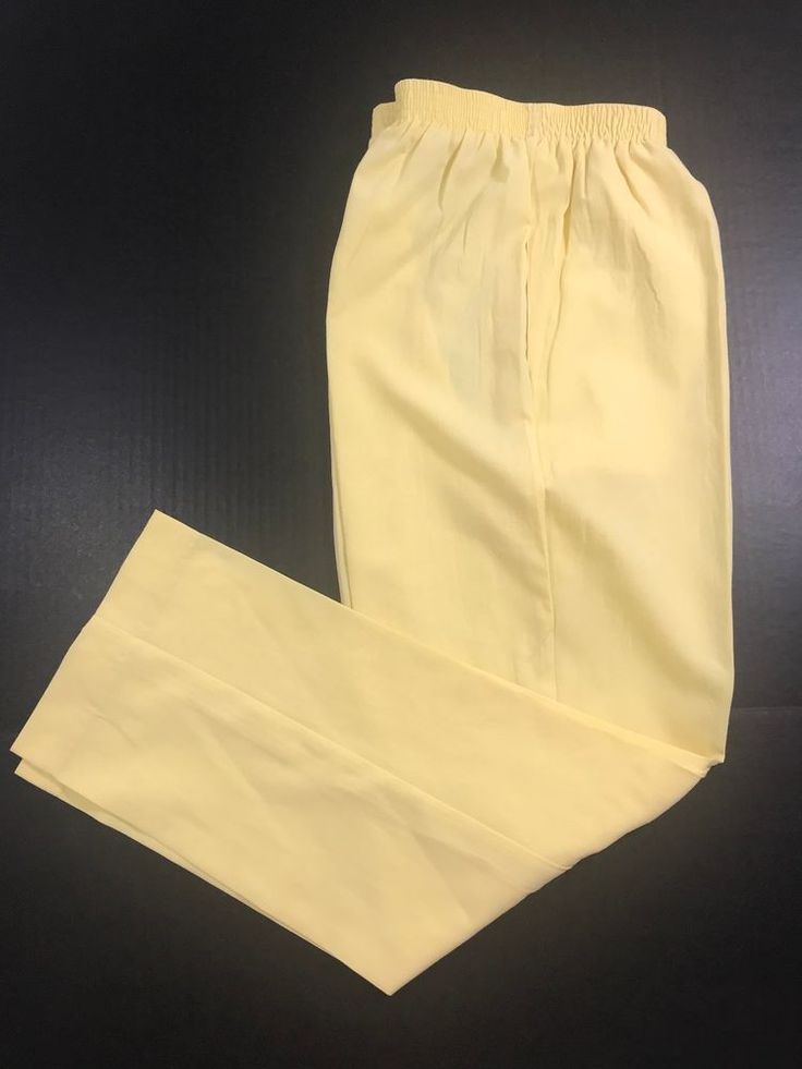 Regal Rubber band waist pants trouser size 8 Yellow lemon 1044 #Regal #Casual