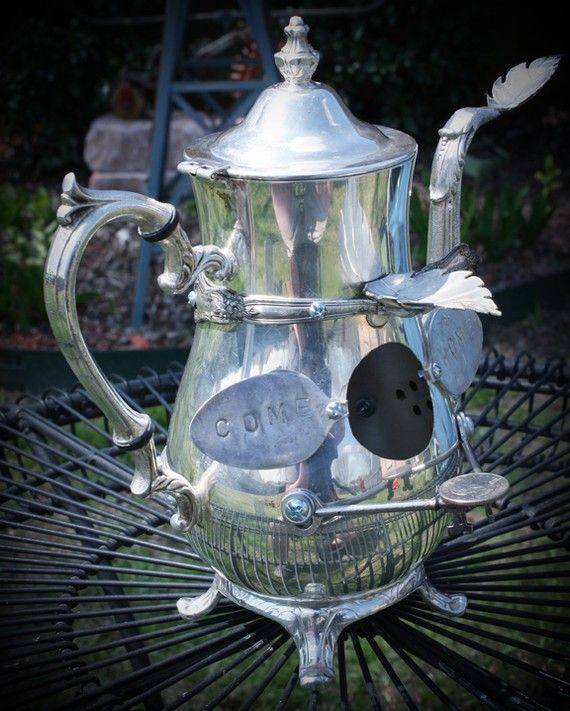 Found Objects Come Home Metal OOAK Birdhouse of Recycled ...