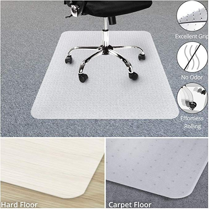 Amazon Com Chair Mat For Carpets Low Medium Pile Computer Chair Floor Protector For Office And Home Opaque S Computer Chair Chair Mats Office Floor Mats