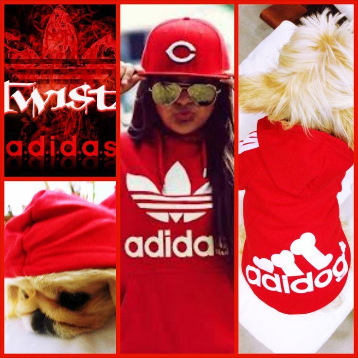 Moda Köpek Kıyafetleri Köpek Modası Köpek Modası Köpek Giysileri Köpekler adidas adidog Dog Clothes Pet Clothes Panda Sweatshirt RED yorkie pekingese