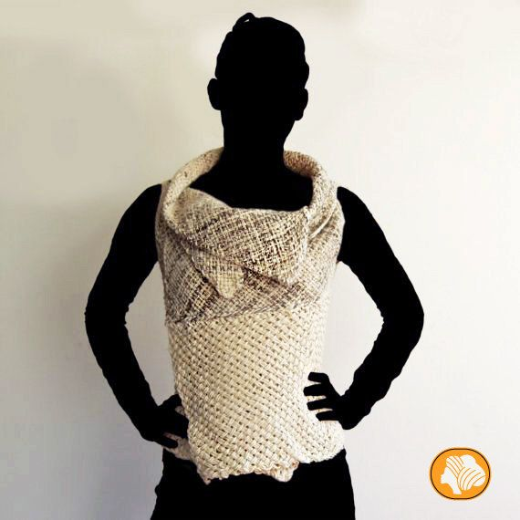 Natural sleeveless sweater by Ullvuna on Etsy, $125.00
