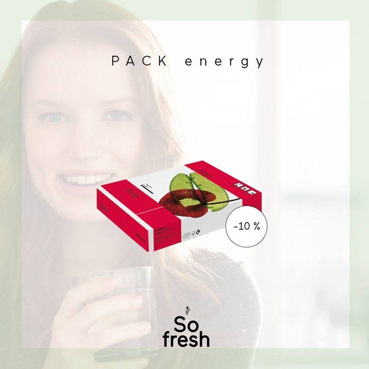 """L'energia tutta naturae del PACK ENERGY ora disponibile con uno sconto del 10%. Sali minerali biodisponibili miscelati con energizzanti vegetali selezionati (vitamina B dalla quinoa p.e.) conferiscono l'energia necessaria per """"spostare le montagne"""". Trovi l'energia naturale di RINGANA PACK ENERGY scontata del 10% (anche nel conveniente set da 3 scatole) su www.freschidea.it. Affrettati!"""