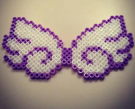 Angel wings -- perler beads