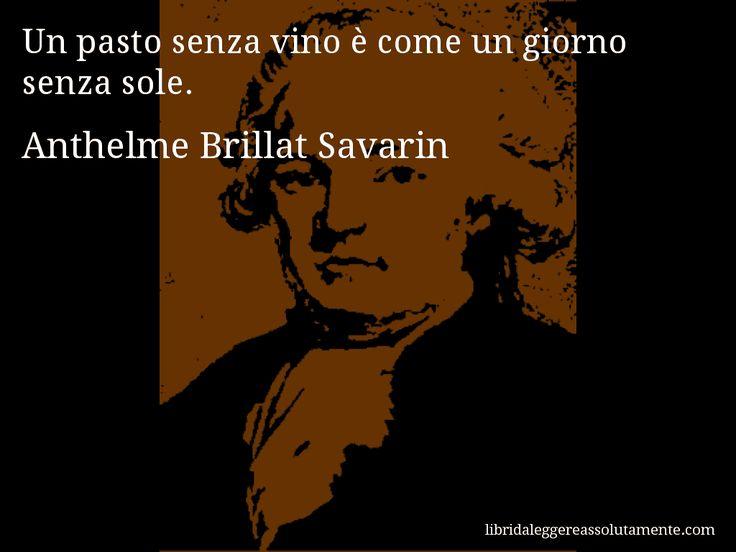 Aforisma di Anthelme Brillat Savarin : Un pasto senza vino è come un giorno senza sole.