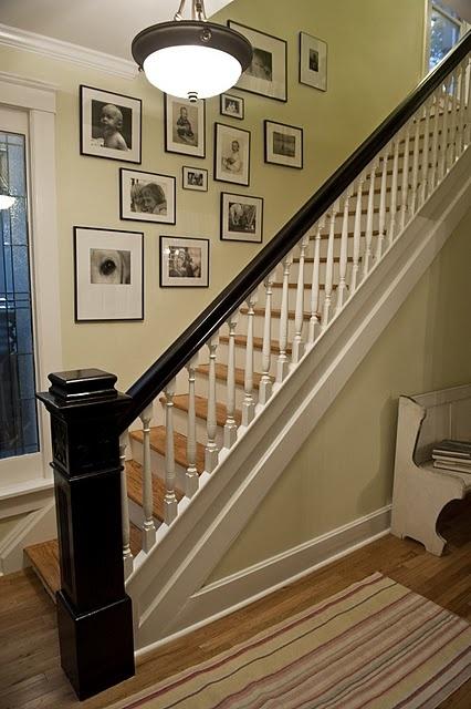 Die besten 17 Bilder zu Stairway gallery wall - our new home! auf