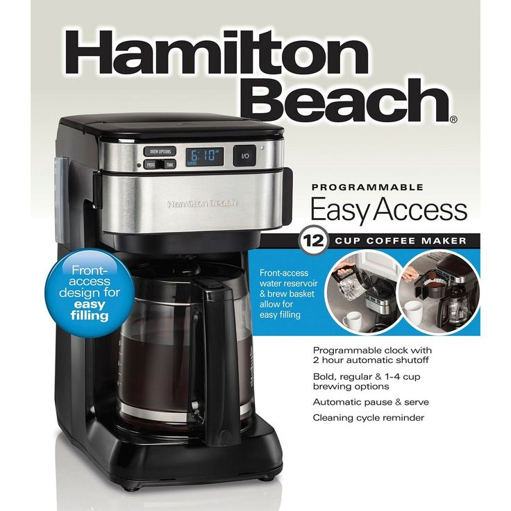 Hamilton Beach 46310 Coffee Maker, Black in 2020 Coffee