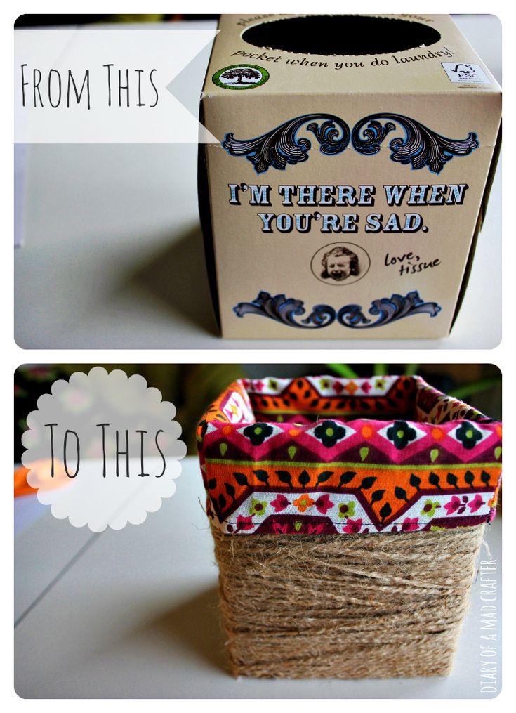 25 unique kleenex box crafts ideas on pinterest kleenex for Diy box crafts