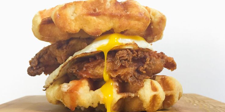 Best Chicken and Waffles Breakfast Sandwich Recipe - How to Make Chicken and Waffles Breakfast Sandwich-Delish.com