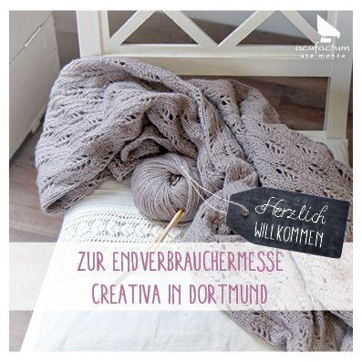 Herzlich Willkommen #acufactum #messe #creativa #dortmund #endverbrauchermesse #westfalenhallendortmund #creativ #kreativmesse #diy #sticken #naehen #haekeln #stricken #embroider #crossstitch #sewing #knit #crochet