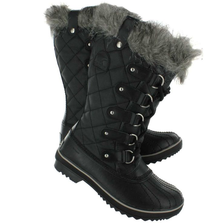 Ladies Winter Boots Clearance | Sorel Women's TOFINO CATE black winter boots ll1846-011