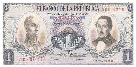 UN PESO ORO 1969
