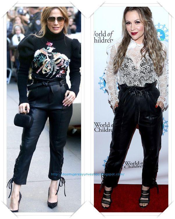 Un pantalón de cuero de Marisa Webb se lo vimos primero a Jennifer Lopez durante la promoción de su serie; y después en los World of Children Hero Awards a Alyssa Milano.