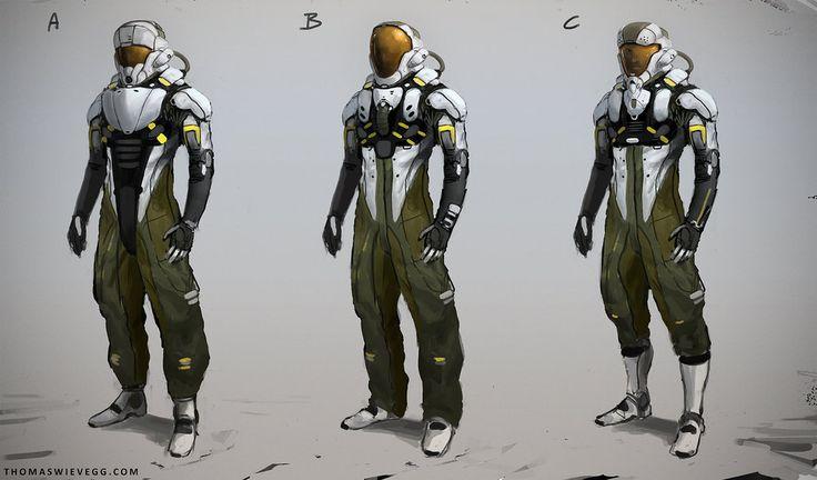 Suit Concepts By Thomaswievegg Astronaut Pilot Spacesuit
