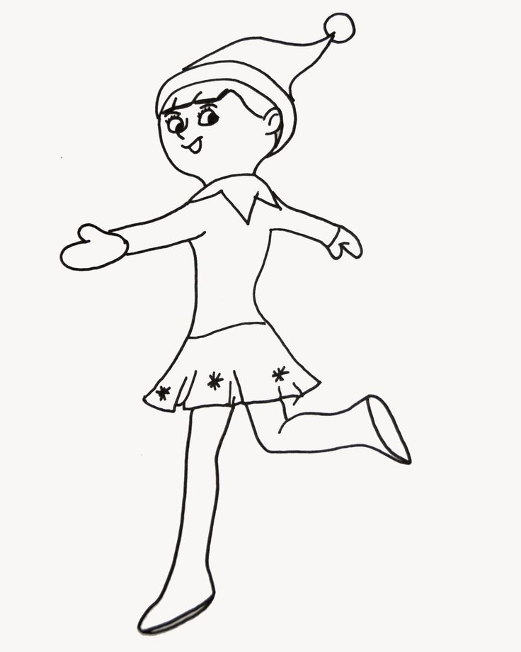 Elf on the shelf coloring page