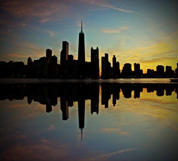 Chicago Skyline Canvas Print 30x30 Ready to by JonTylerPhotography, $155.00