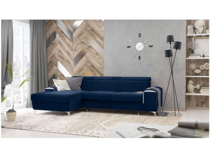 Stylefy Lino Ecksofa Dunkelblau Velours In 2020 Home Furniture Couch