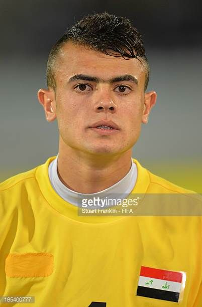 Hayder Mohammed of Iraq looks on during the FIFA U17 World Cup group F match between Iraq and Sweden at Khalifa Bin Zayed Stadium on October 19 2013...