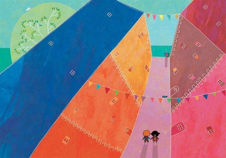 A town for colors.  http://petitefamillegouny.blogspot.com/2012/02/labecedaire-des-belles-choses-faire.html