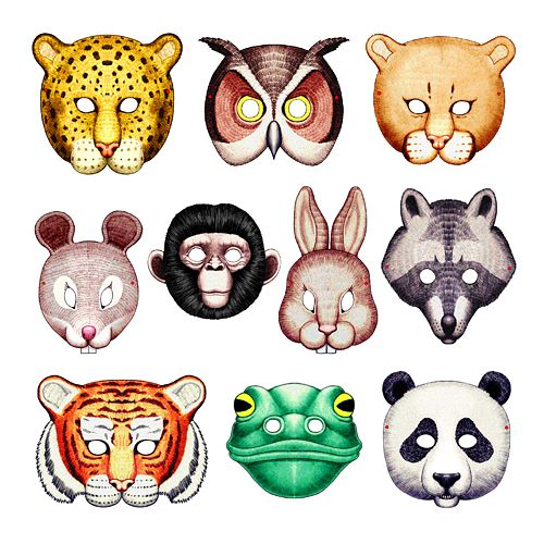 Printable Animal Masks from preschoolkids.net...Great faces for rocks!