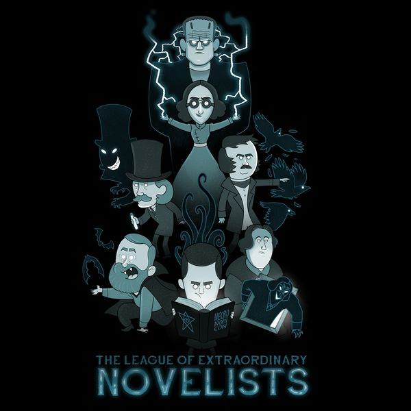 Extraordinary Novelists by Anna-Maria Jung - Get Free Worldwide Shipping! This neat design is available on comfy T-shirt (including oversized shirts up to 6XL ladies fit and kids shirts), sweatshirts, hoodies, phone cases, and more. Free worldwide shipping available.