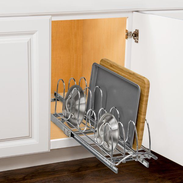 You'll love the Lynk Professional® Roll Out Pan Lid Holder - Pull Out Kitchen Cabinet Organizer Rack at Wayfair - Great Deals on all Storage & Organization products with Free Shipping on most stuff, even the big stuff.