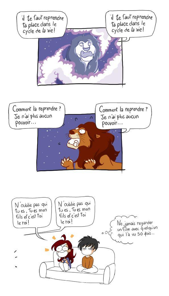 Le roi lion :D tout a fait moi!!!