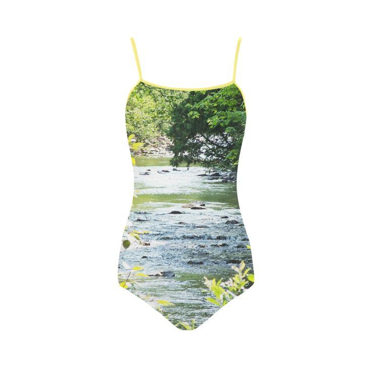 River Runs Through it Strap Swimsuit.