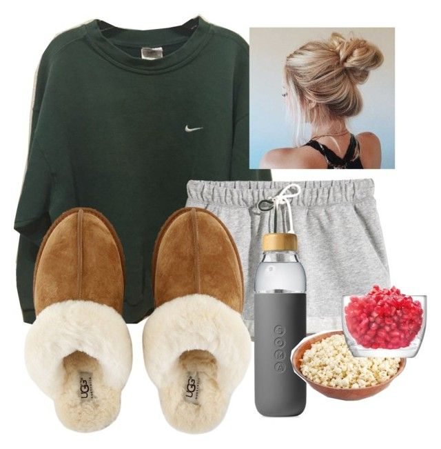 """""""lazy day pt 2"""" by avarat-jr-1 on Polyvore featuring interior, interiors, interior design, home, home decor, interior decorating, NIKE, H&M, UGG and Soma"""