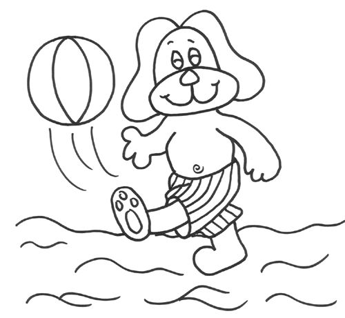 Play Beach Ball Coloring Pages