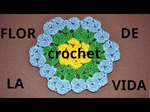 Como tejer una Alfombra multicolor en tejido crochet o ganchillo tutorial paso a paso. - YouTube