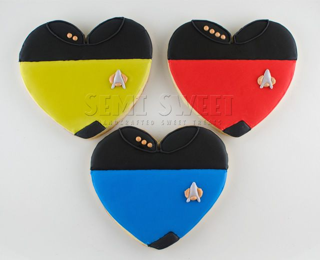 #StarTrek #Decorated #Cookies by @SemiSweetMike
