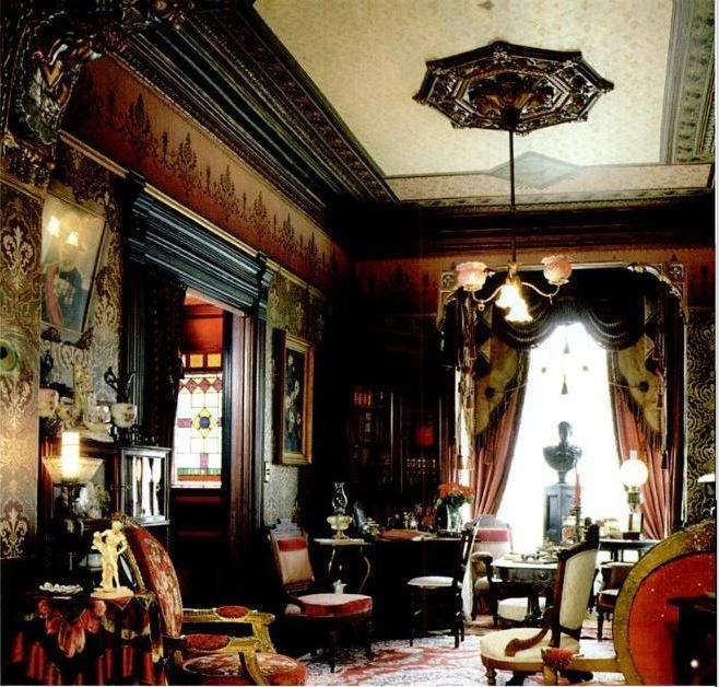 How to do the victorian parlour old house interiors for Old home interior pictures