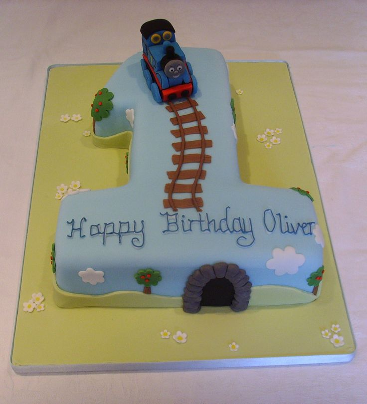 Thomas the Tank Engine Number One Cake with handmade sugarpaste Thomas the Tank Engine! www.thecustomcakeshop.co.uk Please feel free to visit my Facebook business page to keep up to date with my most recent work. www.facebook.com/TheCustomCakeShop