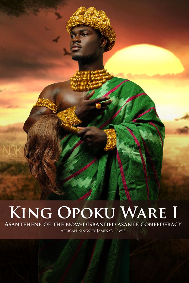 "AFRICAN KINGS by International Photographer James C. Lewis | Opoku Ware I (1700–1750) was an Oyoko (King) Asantehene - the ruler of the Asante - in the now-disbanded Asante Confederacy which occupied parts of what is now Ghana. He is credited with being the ""empire builder"" of the Asante Confederacy. 