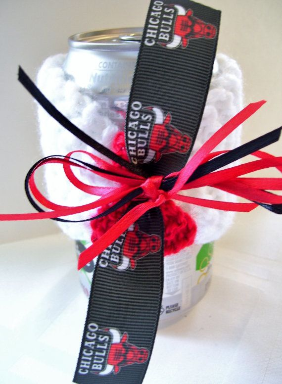 Chicago BULLS Basketball Fans Handmade Can Cozy  by ZZsTeamTime