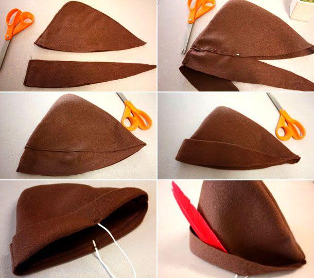 Шляпа Робин Гуда своими руками