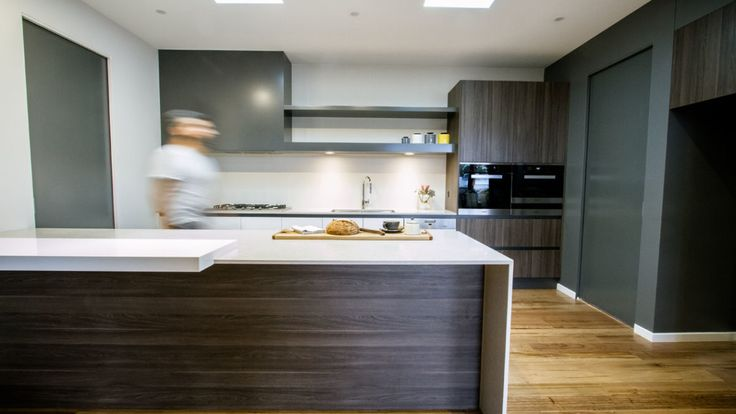 Designed for a new home in central Victoria, this kitchen is part of a large open plan living and dining area, so needed to integrate well into the space as a whole.