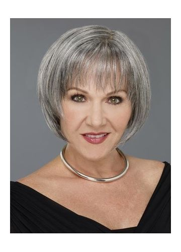 Grey Bob For Old Women | Short bob wigs for white women | Pinterest ...