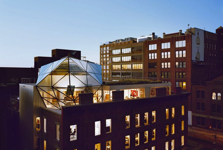 Diane von Furstenberg's Green-Roofed Penthouse Sits Atop Her Naturally Lit Studios & Flagship Store
