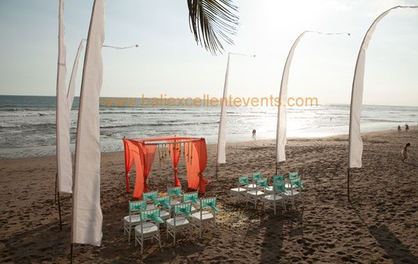Ceremony with sunset view