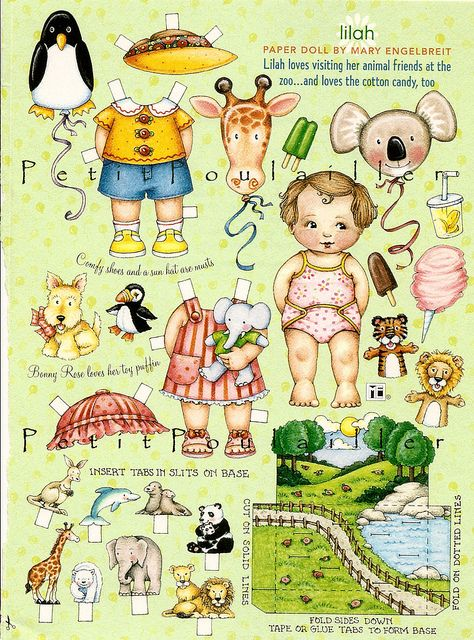 Mary Engelbreit's Home Companion Paper Dolls, Lilah by Le Petit Poulailler, via Flickr