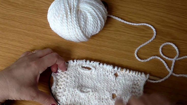 Škola pletení - knoflíkové dírky vyplétané