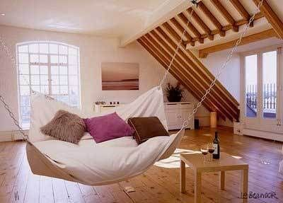 Imagine, lying in bed watching out the window as you sway back in forth. What more could I need?