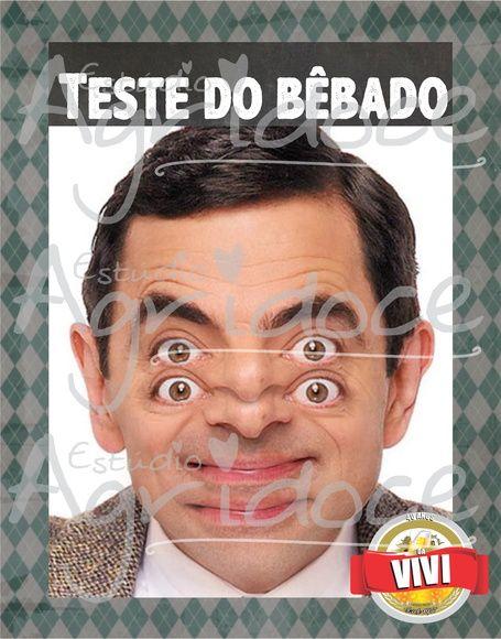 Plaquinha Teste do Bêbado Festa Boteco