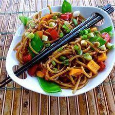 Salade de pâtes à l'asiatique @ qc.allrecipes.ca