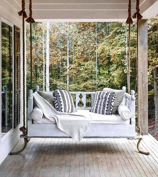 the best front porch swing styled beautifully with. Black Bedroom Furniture Sets. Home Design Ideas